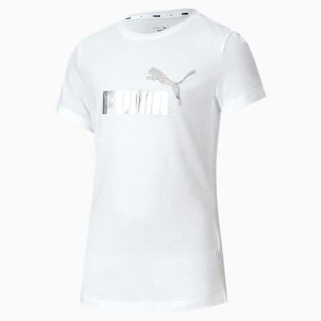 Essentials+ Girls' Tee, Puma White, small