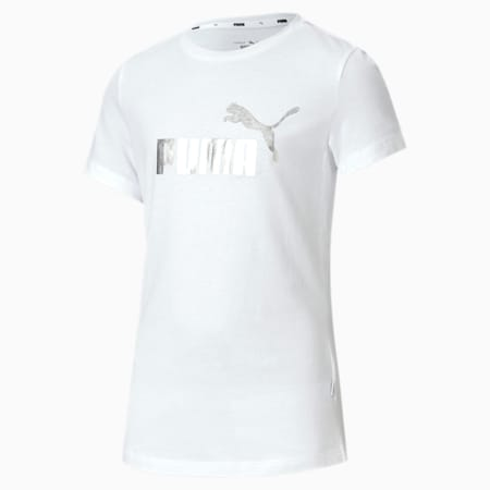 T-Shirt Essentials+ pour fille, Puma White, small