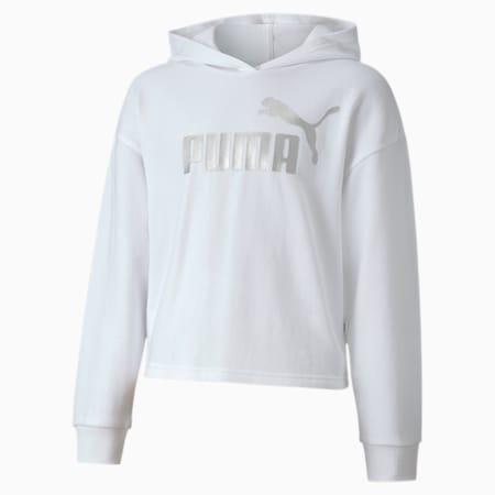 Essentials+ Girls' Hoodie, Puma White, small