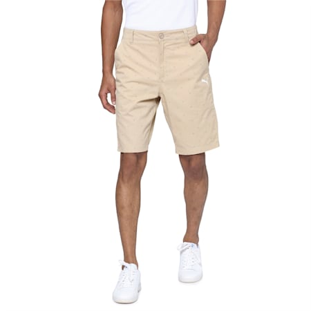 PUMA x Virat Kohli Knitted Men's Chino Shorts, Pale Khaki, small-IND