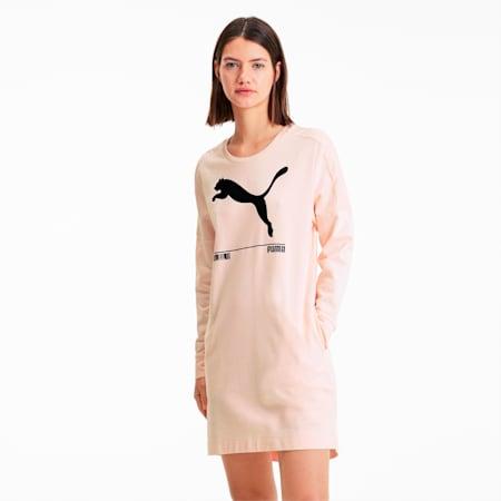 NU-TILITY ウィメンズ スウェットドレス ワンピース, Rosewater, small-JPN