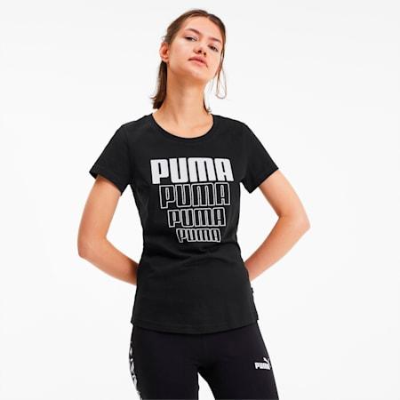 REBEL グラフィック Tシャツ 半袖 ウィメンズ, Puma Black, small-JPN