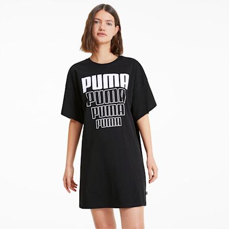 REBEL ウィメンズ ライトウェイト Tシャツ ドレス ワンピース, Puma Black, small-JPN