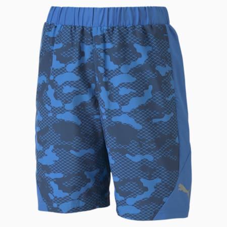 キッズ アクティブ スポーツ AOP ウーブン ショーツ 120-160cm, Palace Blue, small-JPN
