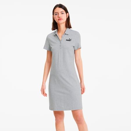 ESS+ ウィメンズ ポロシャツ ドレス ワンピース, Light Gray Heather, small-JPN