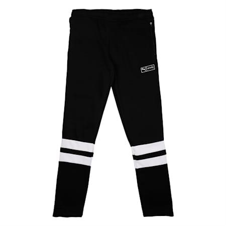 PUMA x Virat Kohli Knitted Kid's Sweatpants, Puma Black, small-IND