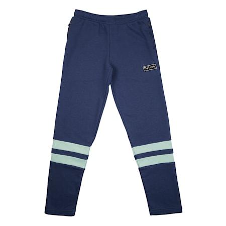 PUMA x Virat Kohli Knitted Kid's Sweatpants, Dark Denim, small-IND