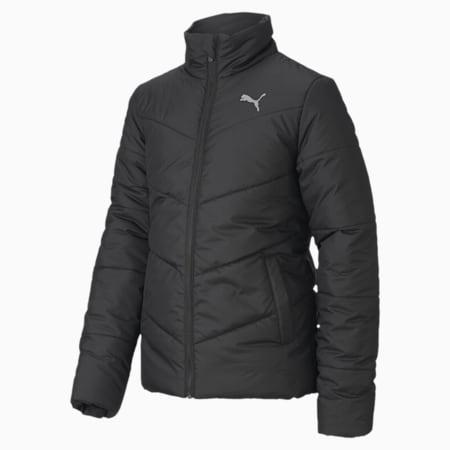 Essentials Padded Youth Jacket, Puma Black, small
