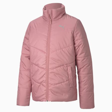 Essentials Padded Youth Jacket, Foxglove, small