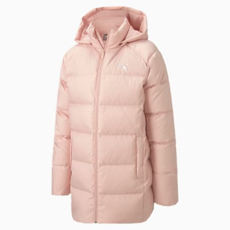 Long Down Youth Jacket, Peachskin, small