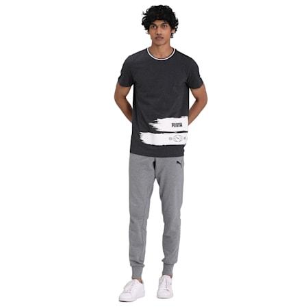Side Print T-Shirt, Dark Gray Heather, small-IND