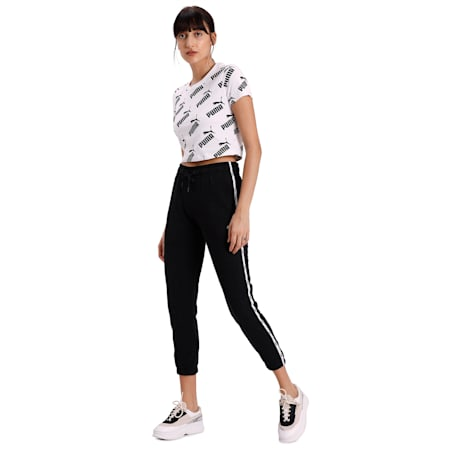 Tape Women's Sweatpants, Puma Black, small-IND