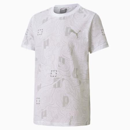 T-shirt Active Sports da ragazzo, Puma White, small