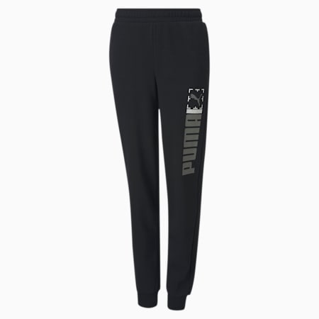 Active Sports Youth Sweatpants, Puma Black, small