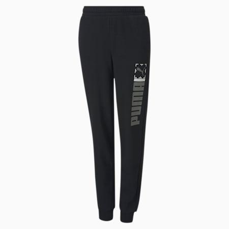 Active Sports Youth Sweatpants, Puma Black, small-SEA