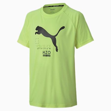T-shirt Active Sports a maniche corte da ragazzo, Fizzy Yellow, small