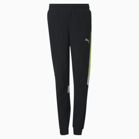 Active Sports Knitted Youth Sweatpants, Puma Black, small-GBR