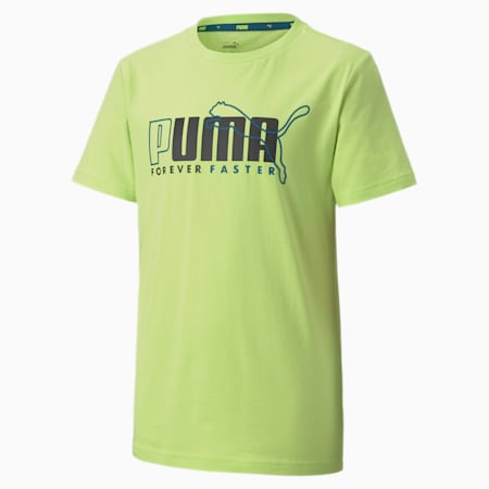 Alpha Graphic Short Sleeve Youth Tee, Sharp Green, small-SEA