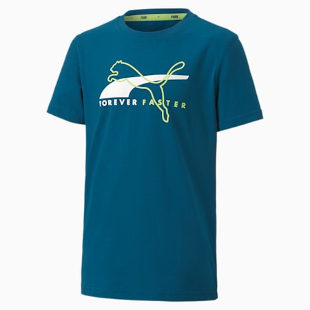 Alpha Graphic Short Sleeve Youth Tee, Digi-blue, small-SEA