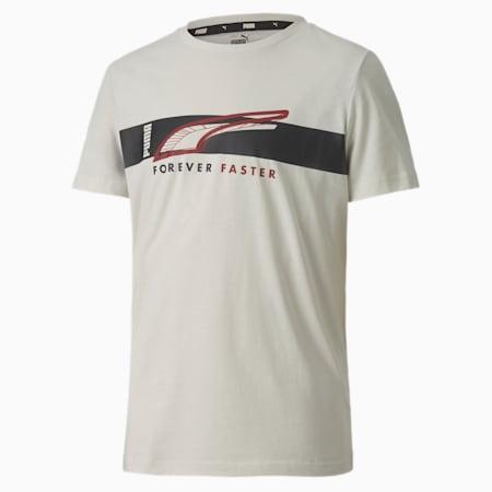 T-shirt Alpha a maniche corte da ragazzo, Vaporous Gray, small