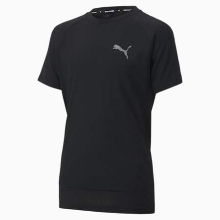 Evostripe T-shirt voor oudere kinderen, Puma Black, small
