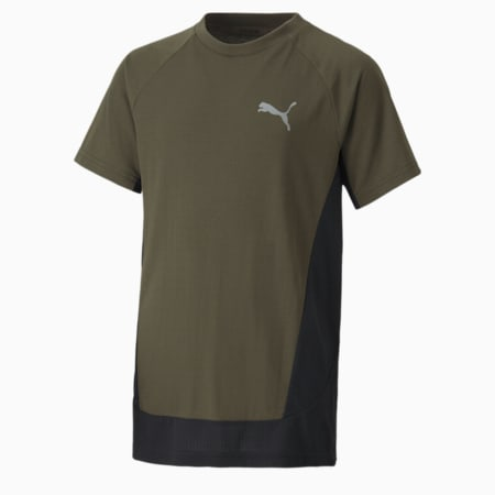 Evostripe Youth Tee, Forest Night, small-GBR