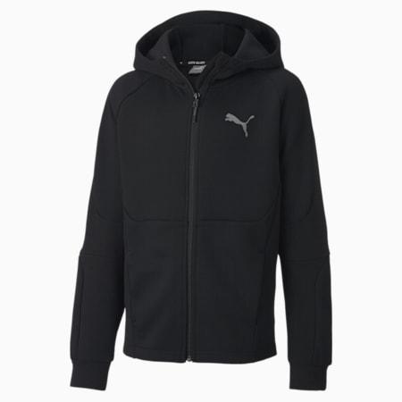 Chłopięca rozpinana bluza z kapturem Evostripe, Puma Black, small