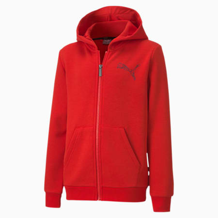 Graphic Full Zip Kid's Hoodie, High Risk Red, small-IND