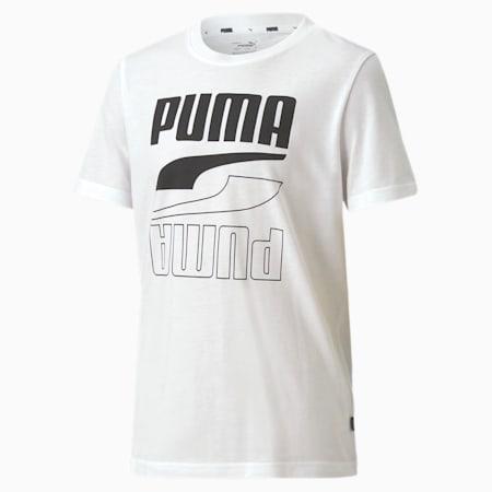 T-shirt Rebel ragazzo, Puma White-Puma Black, small