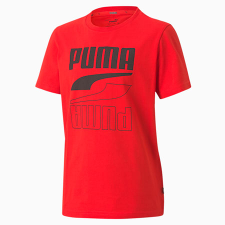 Rebel Boy's T-Shirt, High Risk Red, small-IND