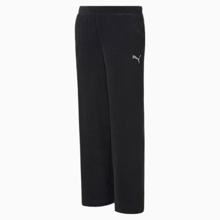 Alpha Velvet Girl's Pants, Puma Black, small-IND