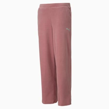 Alpha Velvet Girl's Pants, Foxglove, small-IND