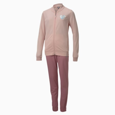 Polyester Youth Tracksuit, Peachskin-Foxglove, small