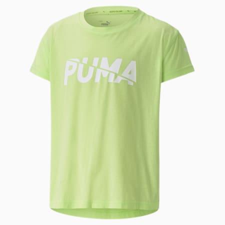 Modern Sports Logo dryCELL Kid's T-Shirt, Sharp Green, small-IND