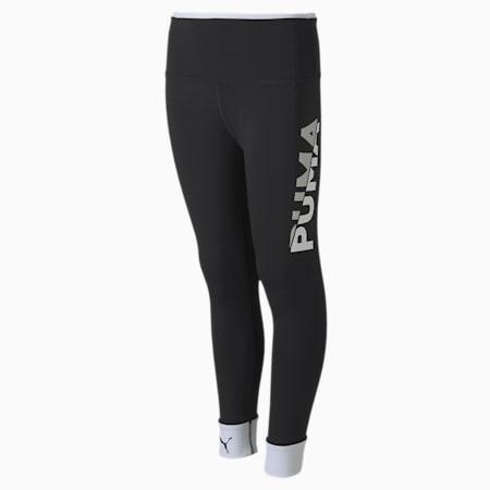 Modern Sports Youth Leggings, Puma Black-Puma White, small