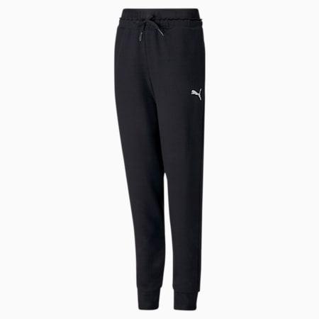 Modern Sports Youth Pants, Puma Black, small-GBR