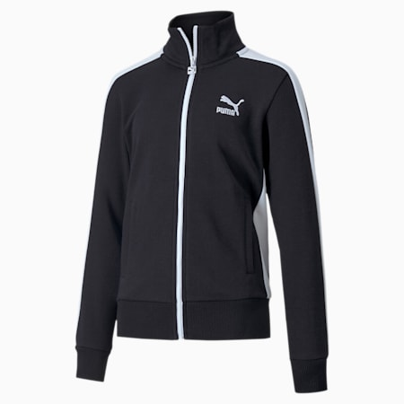 Classics T7 Youth Track Jacket, Puma Black, small