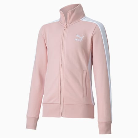 Classics T7 Girls' Track Jacket JR, Peachskin, small