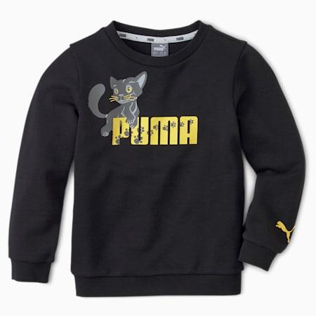 Animals Kinder Sweatshirt mit Rundhalsausschnitt, Puma Black, small