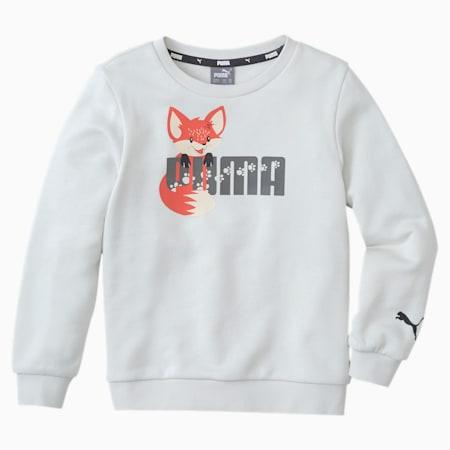 Animals Kids' Crew Neck Sweater, Vaporous Gray, small