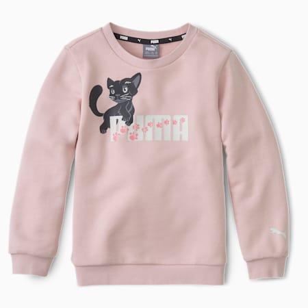 Animals Kids' Crew Neck Sweater, Peachskin, small-SEA