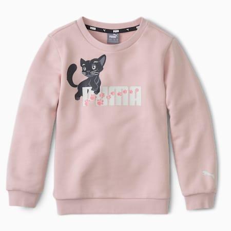 Animals Kids' Crew Neck Sweater, Peachskin, small-IND