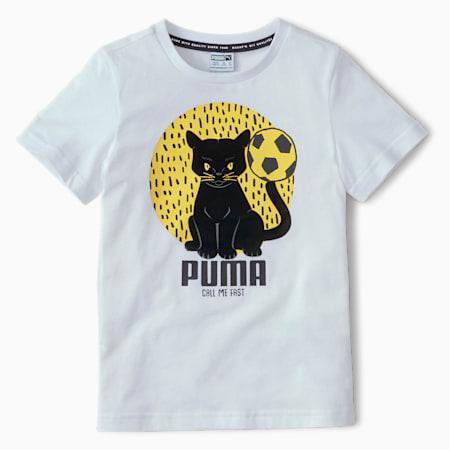 Animals Suede Kids' Tee, Puma White, small-SEA
