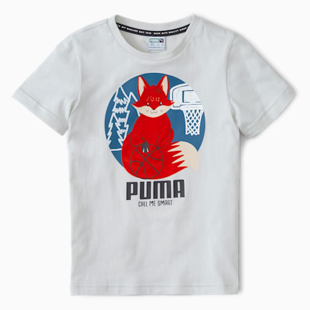 Animals Suede Kinder T-Shirt, Vaporous Gray, small