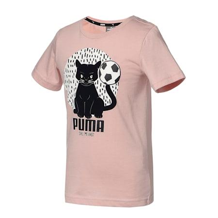 キッズ アニマルズ スウェード 半袖 Tシャツ 92-128cm, Peachskin, small-JPN