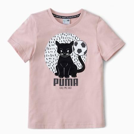 Animals Suede Kids' T-Shirt, Peachskin, small-IND