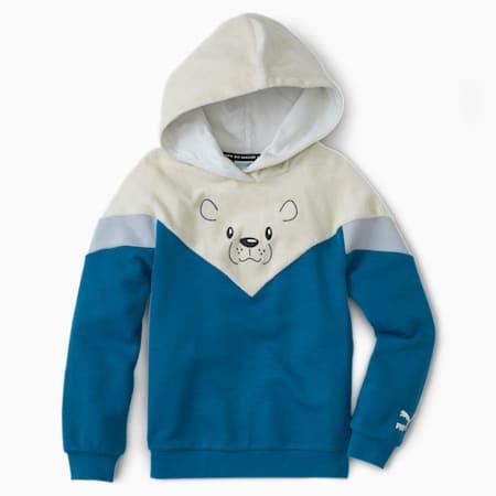 Dziecięca bluza Animals MCS z kapturem, Digi-blue, small