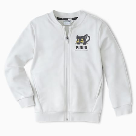 Felpa Bomber Animals da bambino, Vaporous Gray, small
