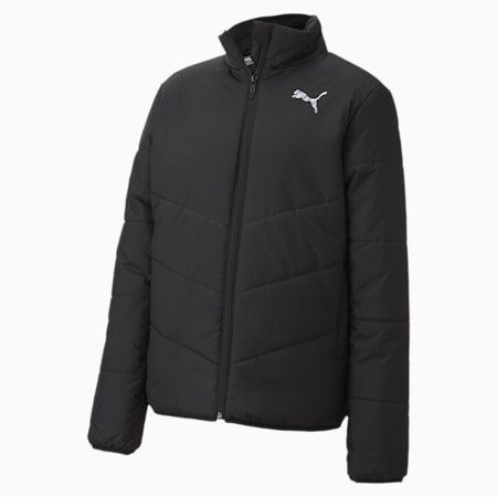 Essentials Padded Youth Jacket, Puma Black, small