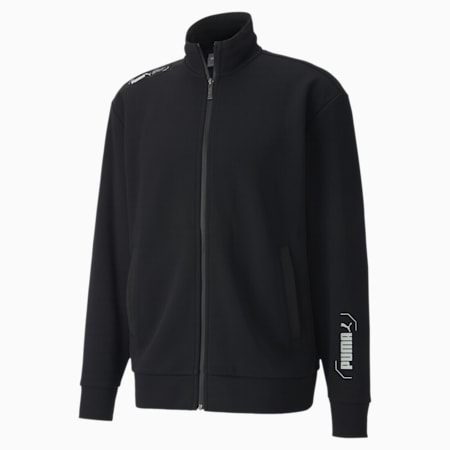 NU-TILITY Men's Track Jacket, Puma Black, small-SEA